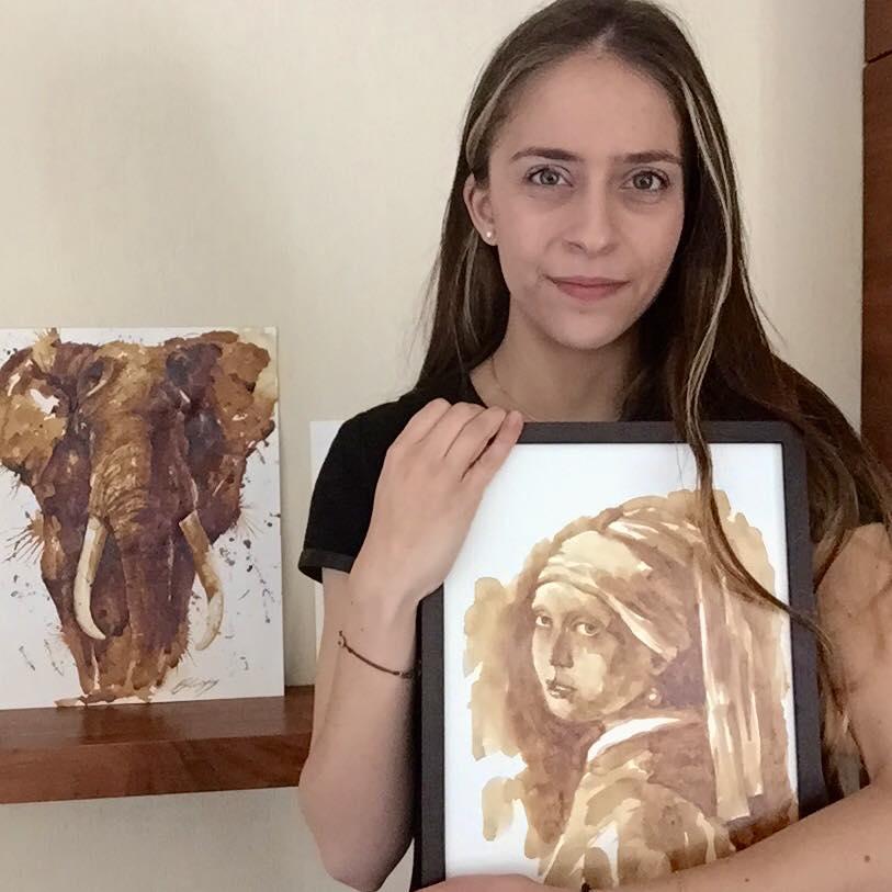 Невероятные рисунки, выполненные с  помощью кофе 13