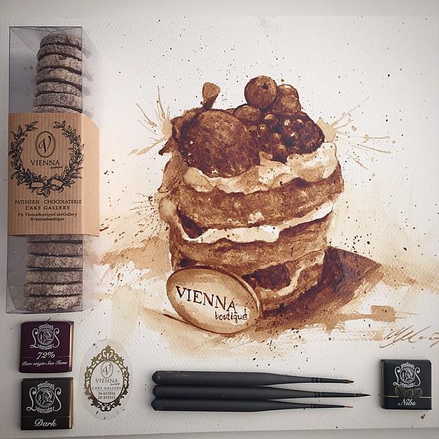 Невероятные рисунки, выполненные с  помощью кофе 4