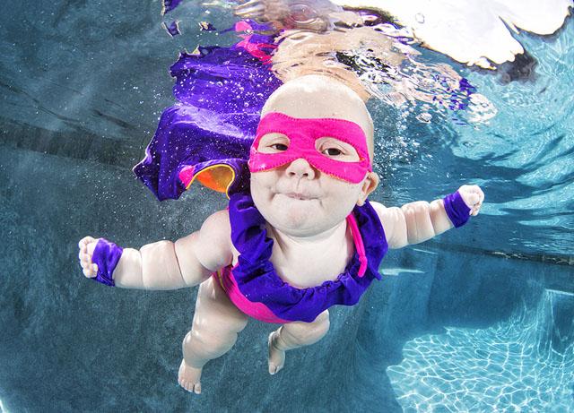 Подводные портреты младенцев  1
