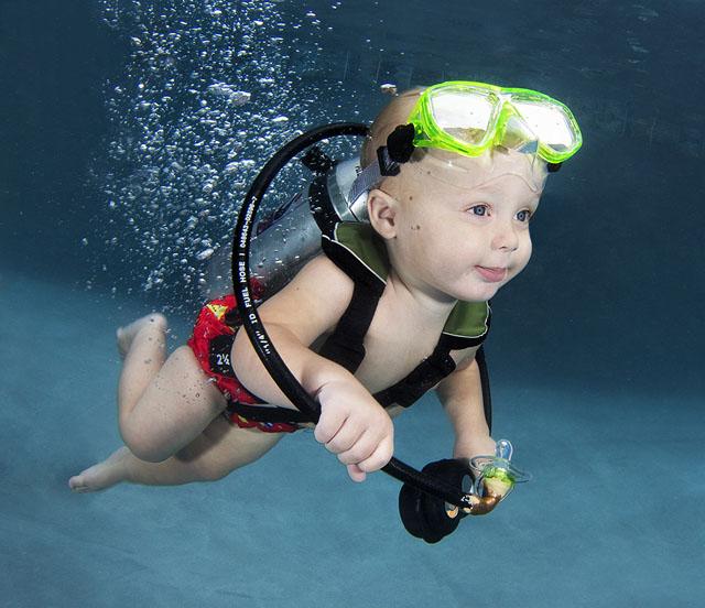 Подводные портреты младенцев  4