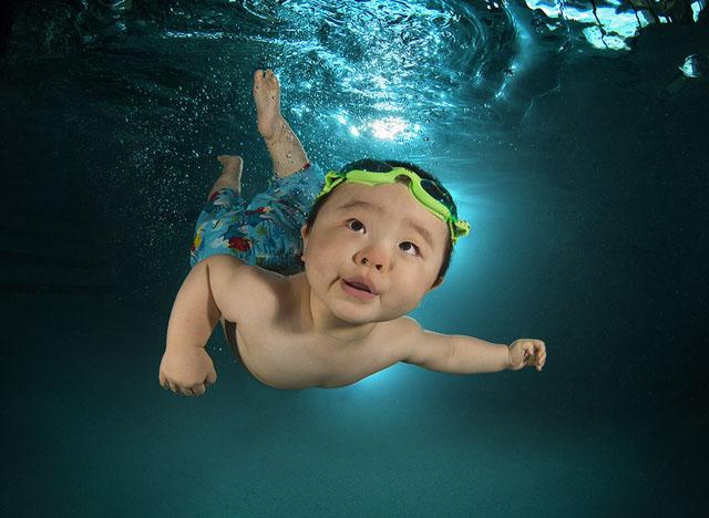 Подводные портреты младенцев  7
