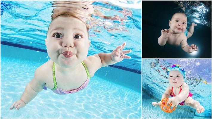 Подводные портреты младенцев