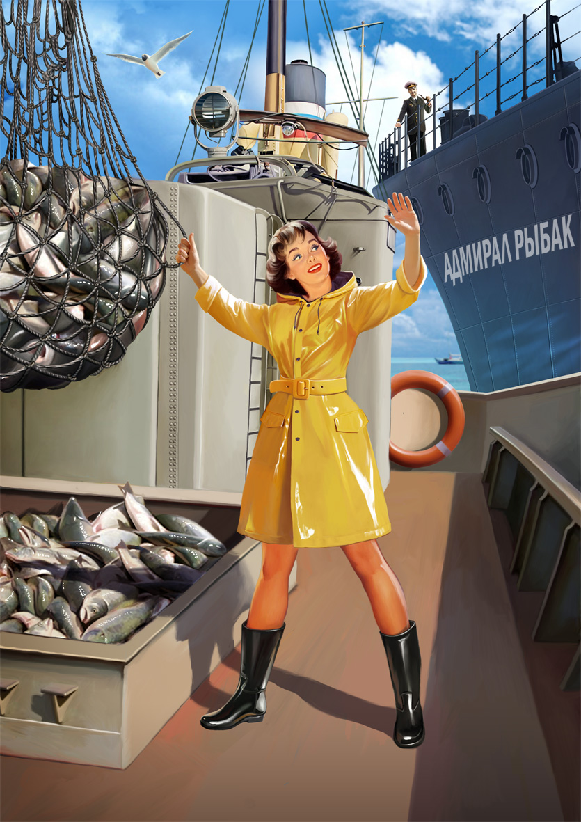 Советский пин-ап от художника Натальи Ершовой 1
