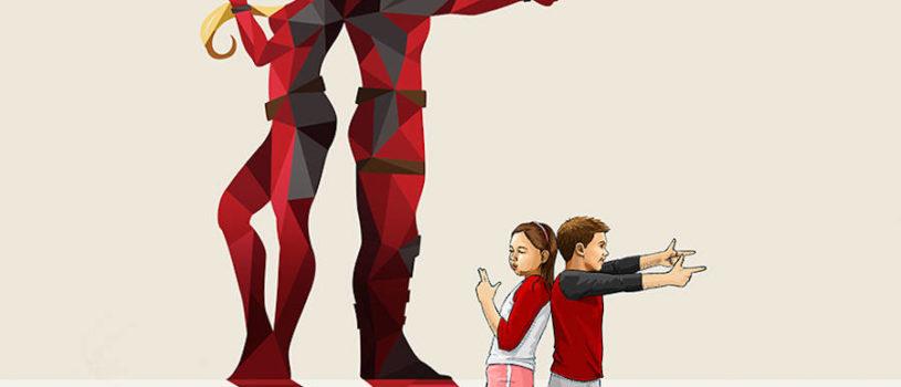 Дети-супергерои в иллюстрациях
