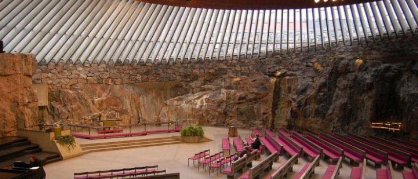 Самая посещаемая церковь в Финляндии — Храм Темппелиаукио