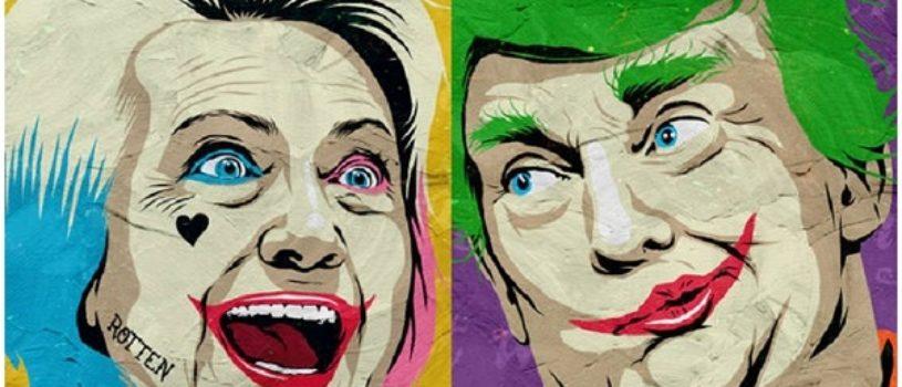 Tрамп и Хиллари – президентская гонка в иллюстрациях Butcher Billy