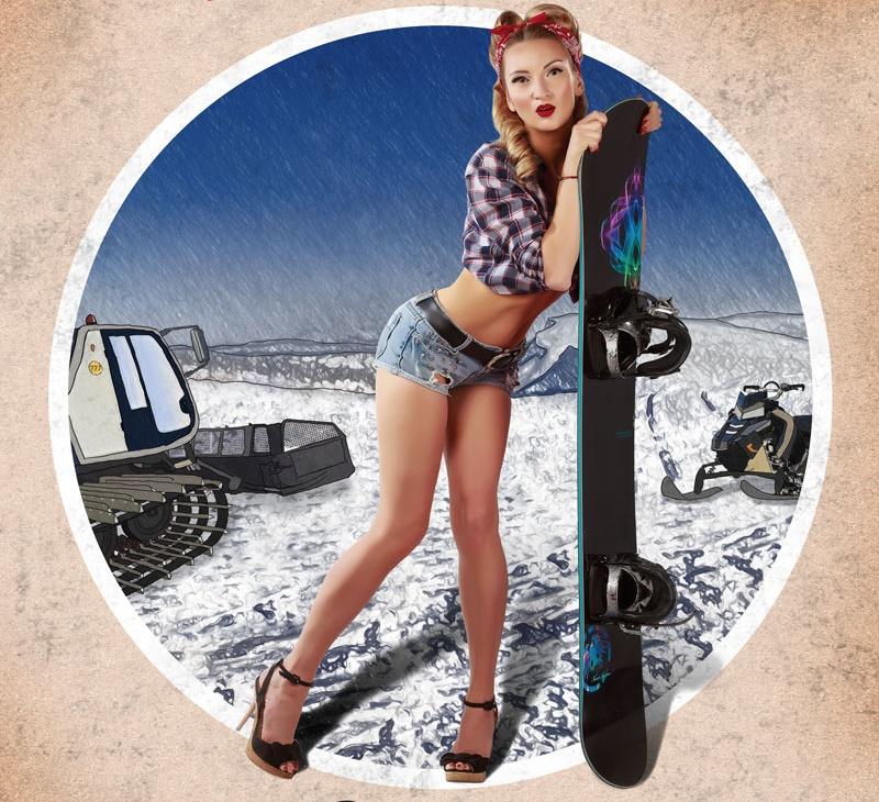 Пин-ап календарь «Горнолыжные курорты России» на 2017 год от Новоселова Антона
