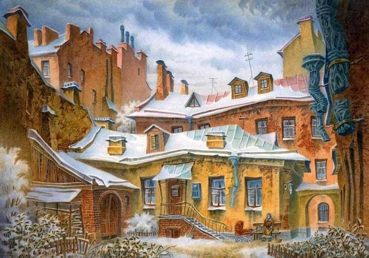 Акварельное волшебство питерского художника Владимира Колбасова