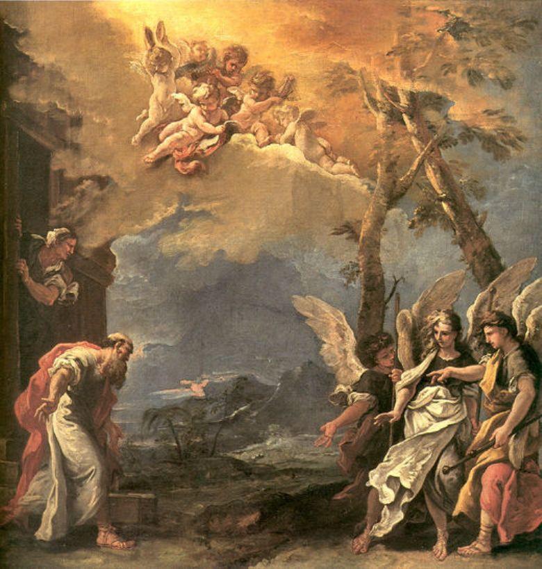 Авраам и ангелы (1695)
