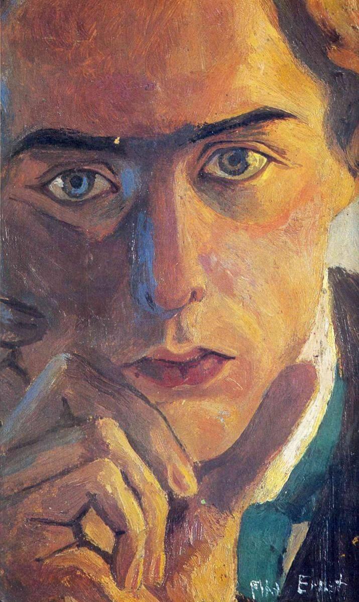 Автопортрет - Макс Эрнст (1909)