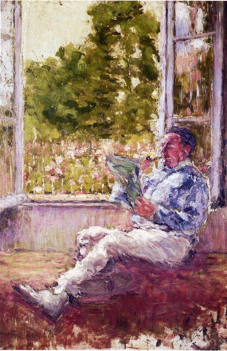 Человек сидит у окна - Марсель Дюшан (1907)