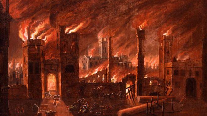 Дьявольский пожар в Лондоне 1666 года