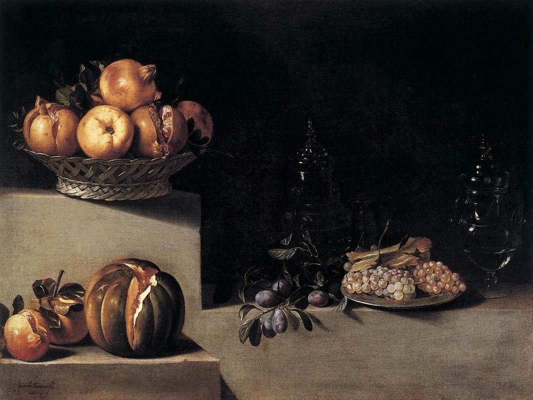 Хуан ван дер Хамен, Натюрморт с фруктами, музей изобразительных искусств, Хьюстон