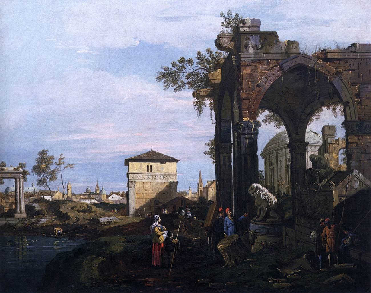 Каприччо с руинами и воротами Портелло в Падуе, 1760 г