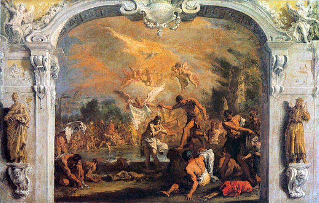 Крещение Христа Себастьяно Риччи (1733)