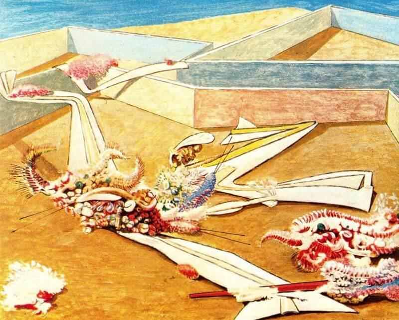 Летающие лошади в саду - Макс Эрнст (1935)