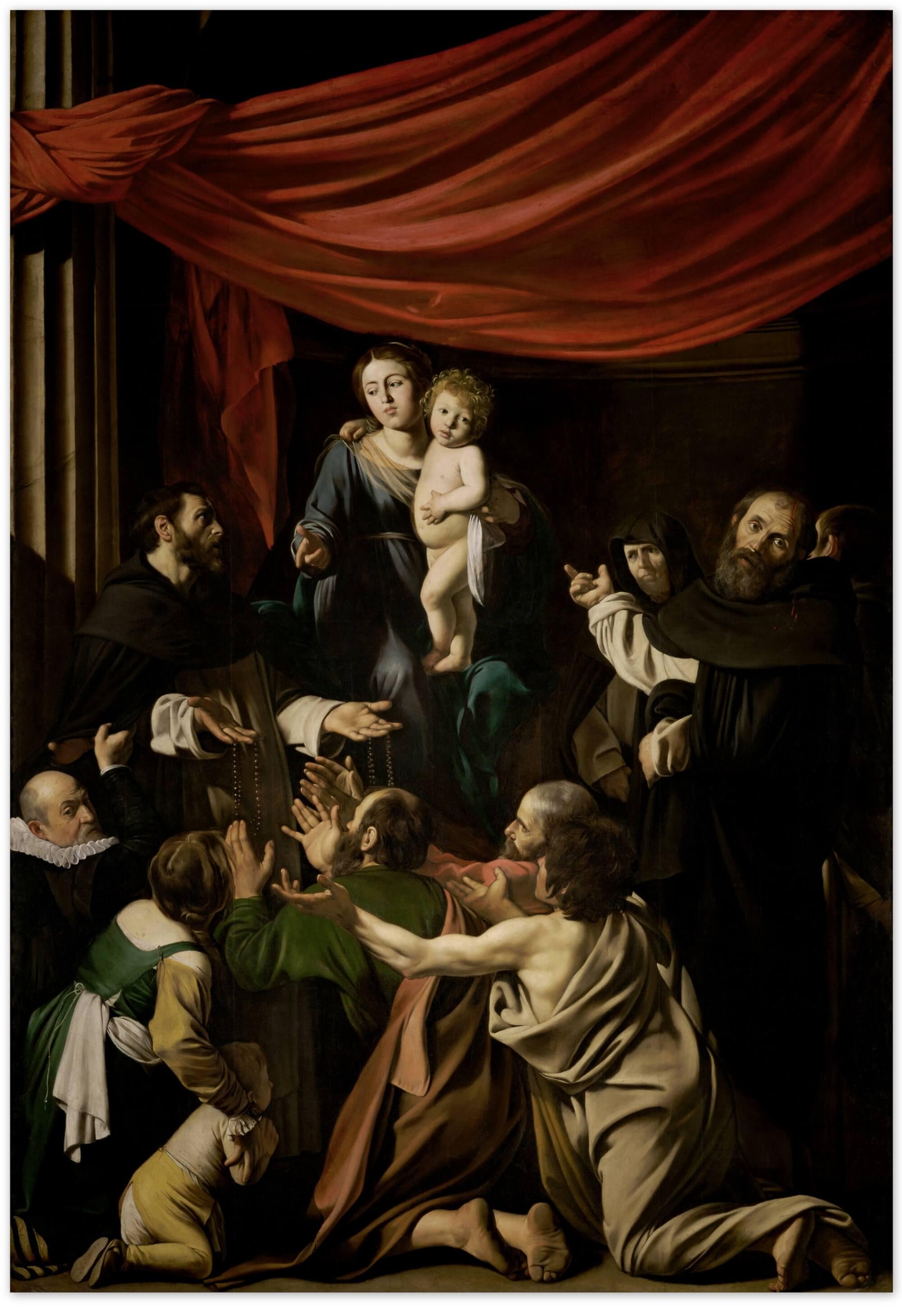 Караваджо картина Мадонна с четками