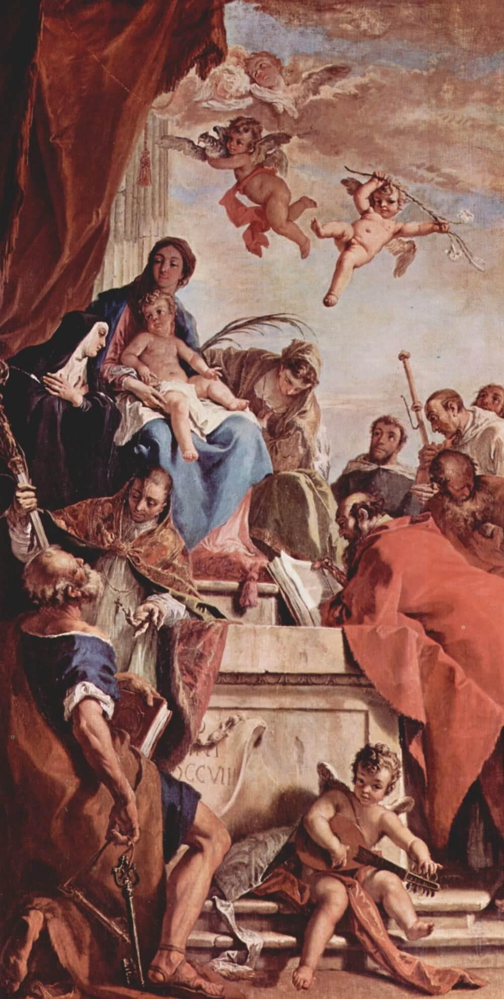 Мадонна с младенцем и святыми Себастьяно Риччи