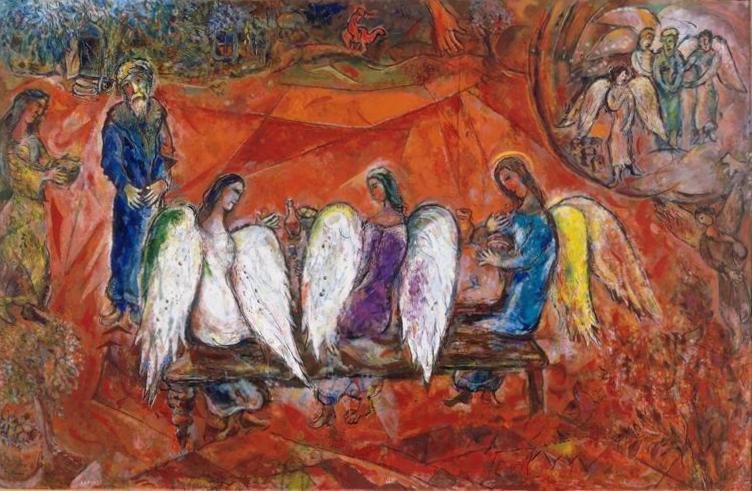 Марк Шагал Авраам и три ангела