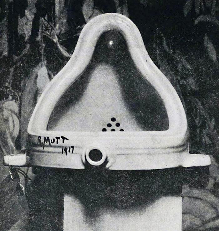 Марсель Дюшан, фонтан, 1917; фотография Альфреда Штиглица