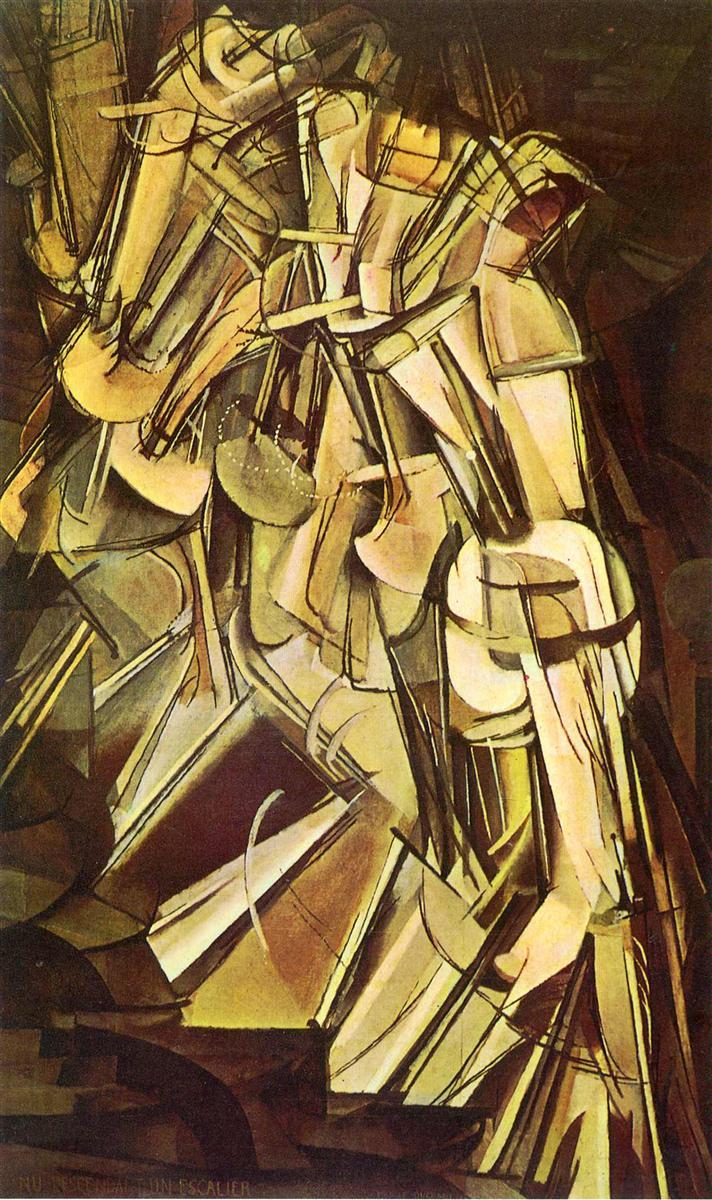Обнаженная, спускающаяся по лестнице, No.2 - Марсель Дюшан (1912)