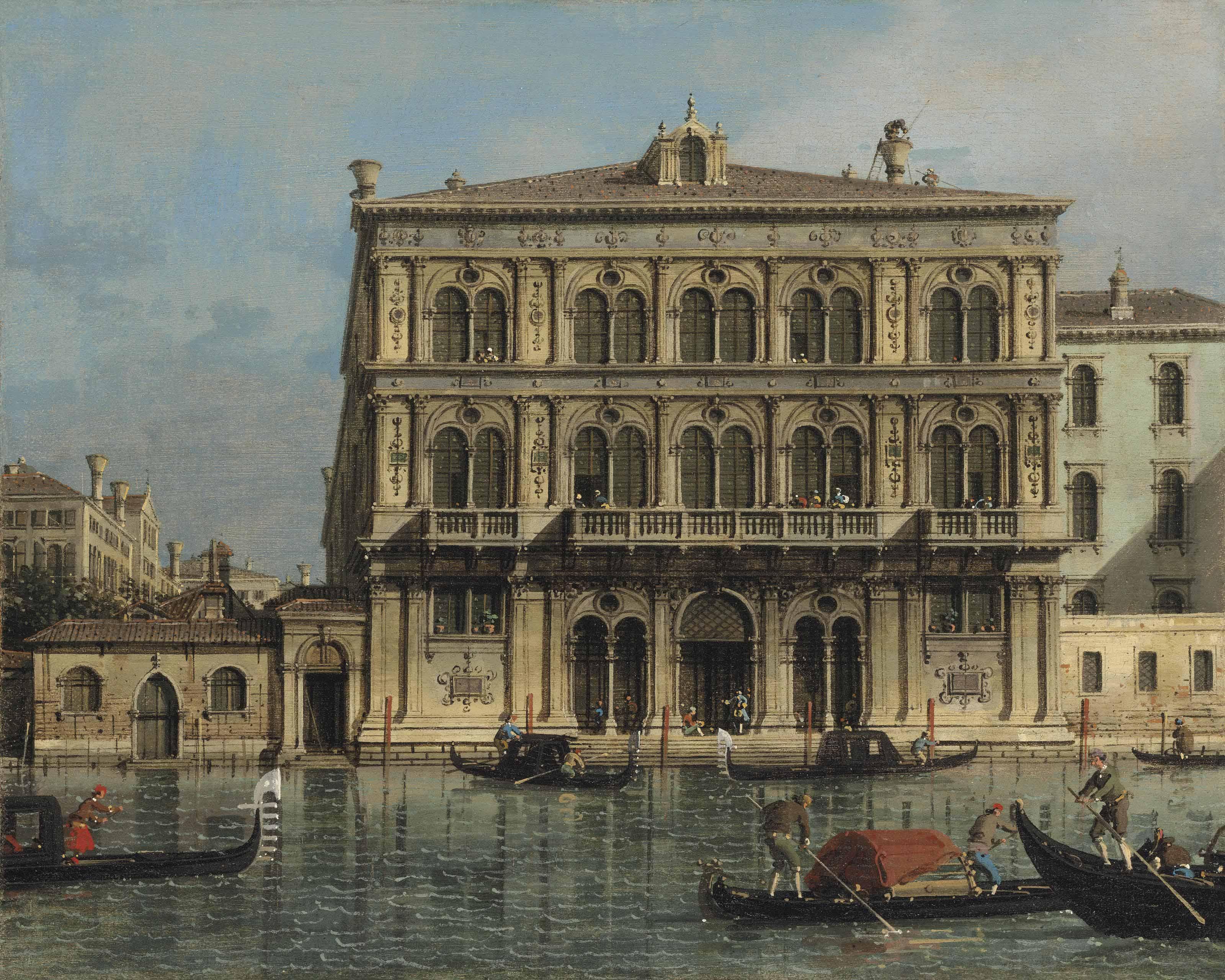 Палаццо Гримани, 1756 г. каналетто