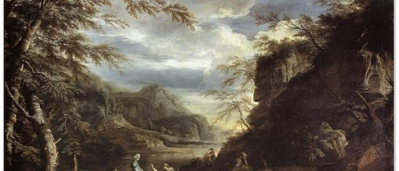 Пейзаж с Аполлоном и Сивиллой Кумской  — Сальватора Роза