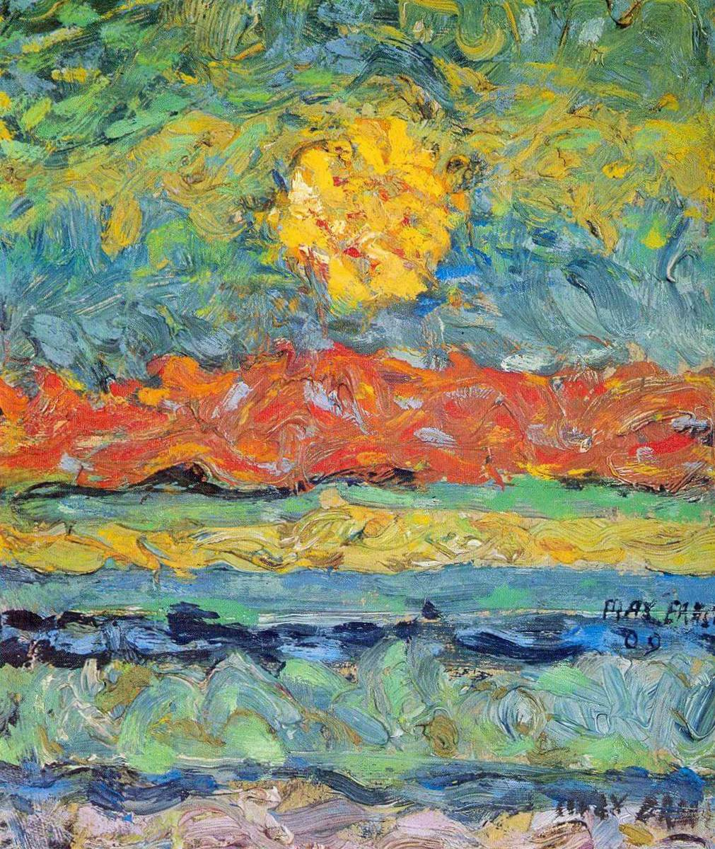Пейзаж с солнцем Макс Эрнст (1909)