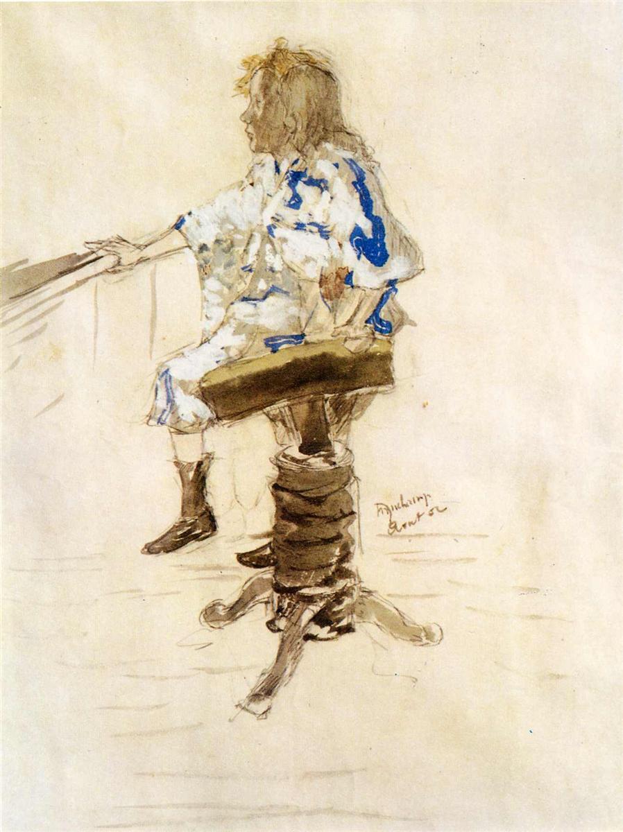 Портрет Ивонны Дюшана - Марсель Дюшан (1901)
