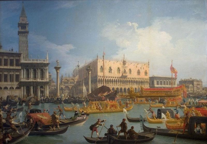 Праздник обручения венецианского дожа с Адриатическим морем, около 1763-64 каналетто