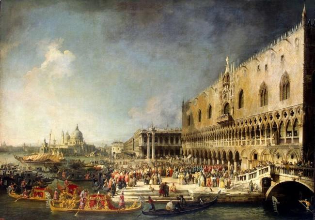 Приём французского посла в Венеции, 1745 г. каналетто