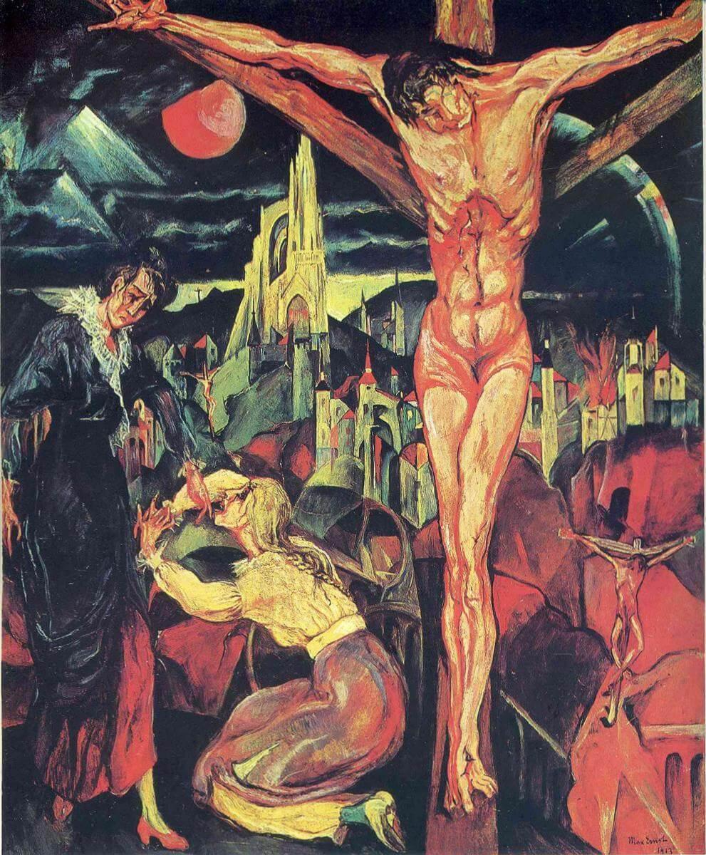 Распятие на кресте - Макс Эрнст (1913)