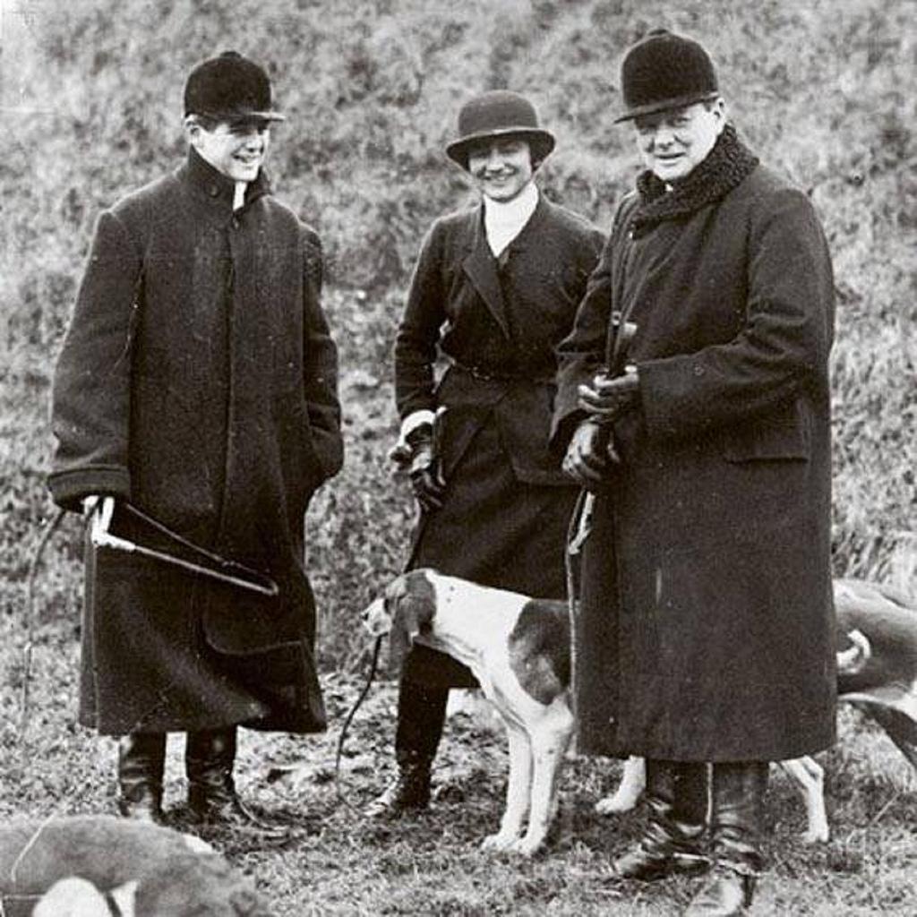 Коко Шанель с Уинстоном Черчиллем и его сыном