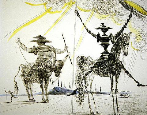 Сальвадор Дали Иллюстрация Дон Кихот