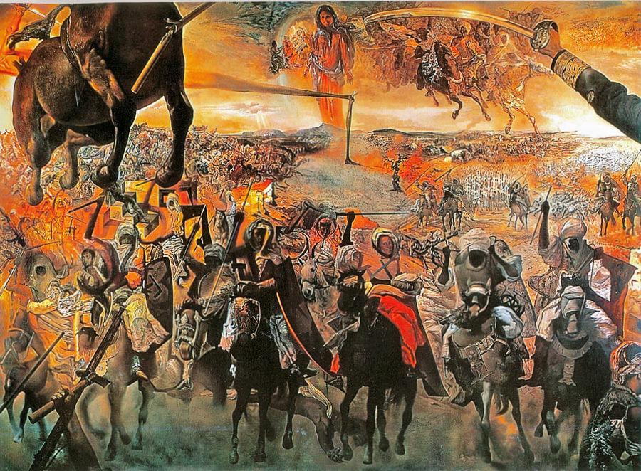 Сальвадор Дали Сражение у Тетуана (1962 г.)