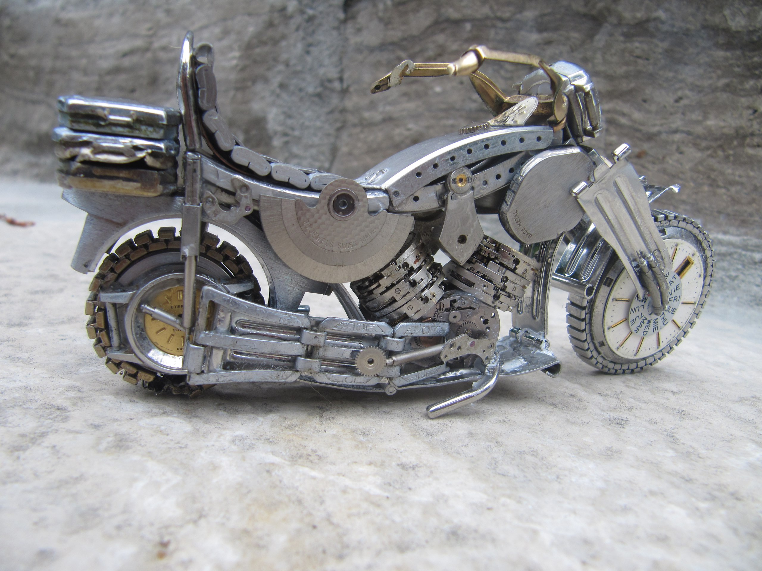 стимпанк мотоциклы из часов