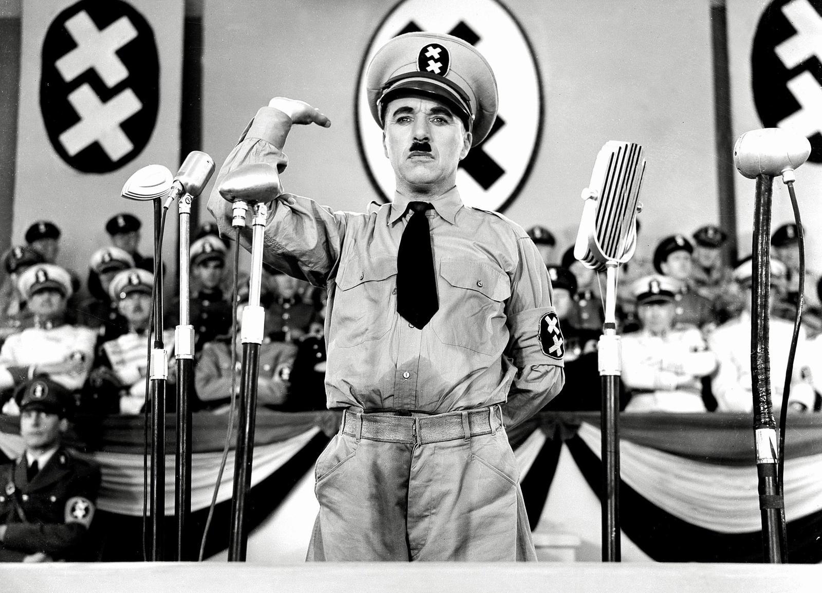 Чарли Чаплин великий диктатор