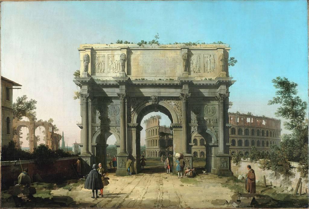 Вид на Колизей и арку Константина, 1743