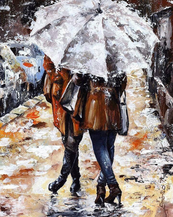 Дождливый день - Прогулка под дождем