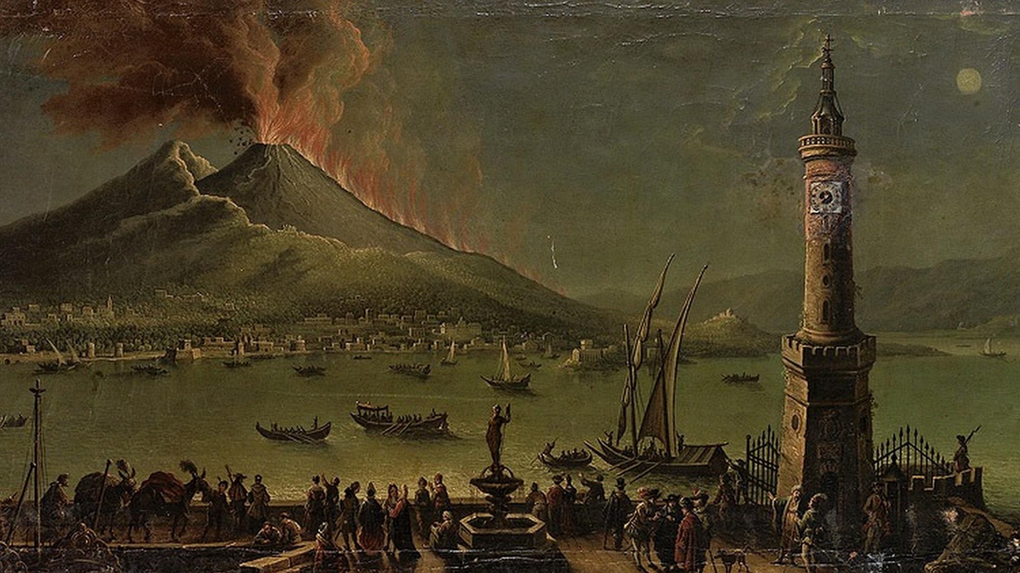 извержение Везувия в Неаполе