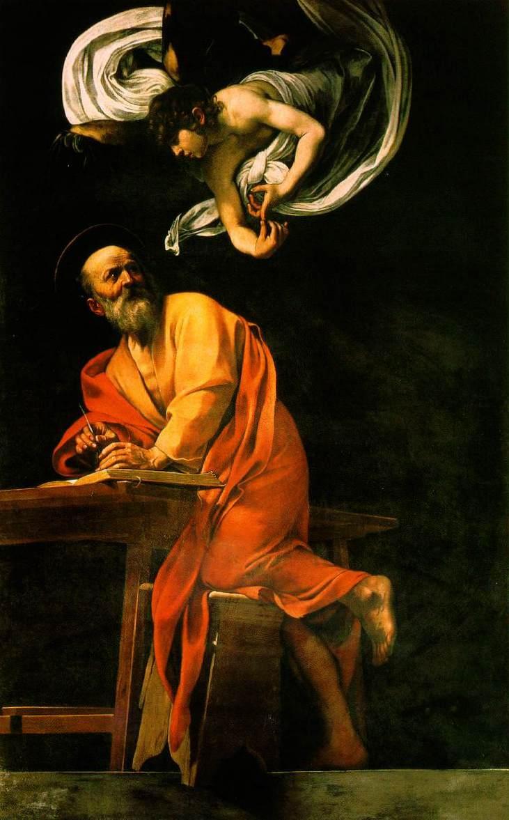 караваджо матфей и ангел