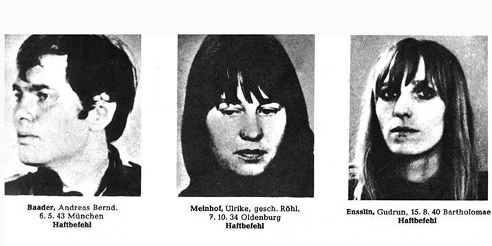 Ульрике Майнхоф и Гудрун Энсслин, члены-основатели РАФ, выросли в протестантских семьях