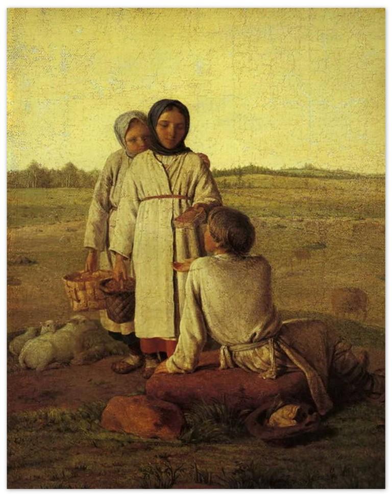Алексей Венецианов - Крестьянские дети в поле (1810-е, Русский музей, Санкт-Петербург )