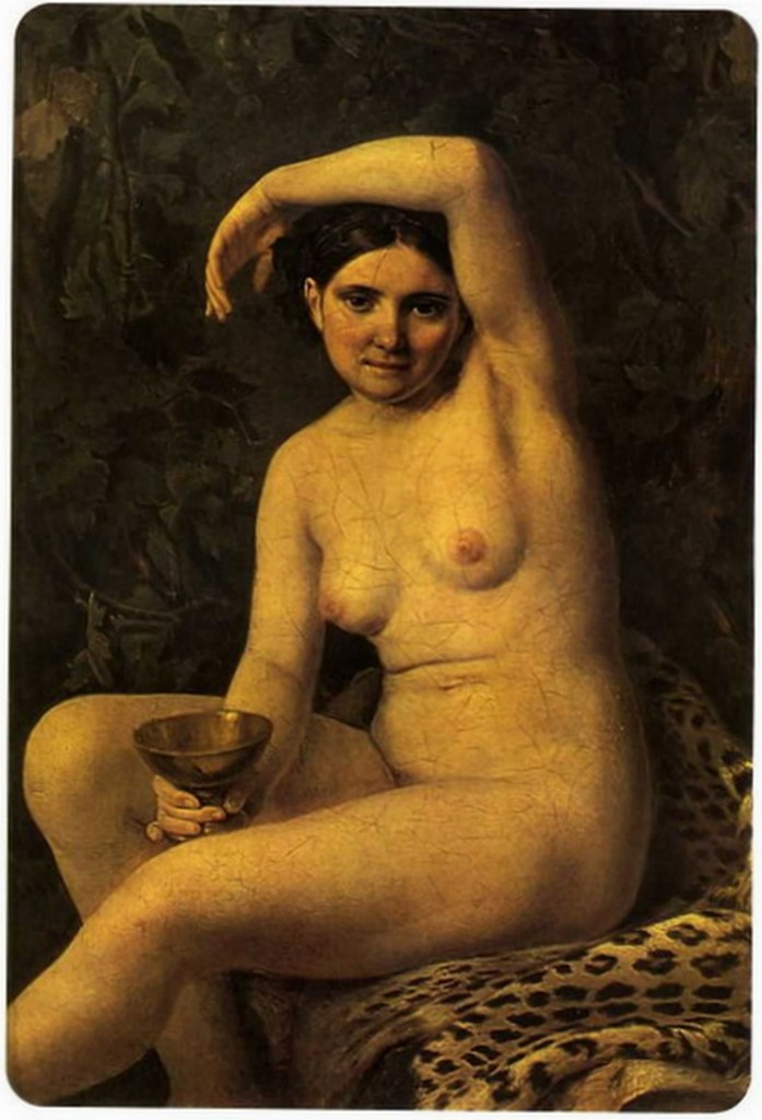 Алексей Венецианов - Купальщица с чашей (1832, Третьяковская галерея, Москва)
