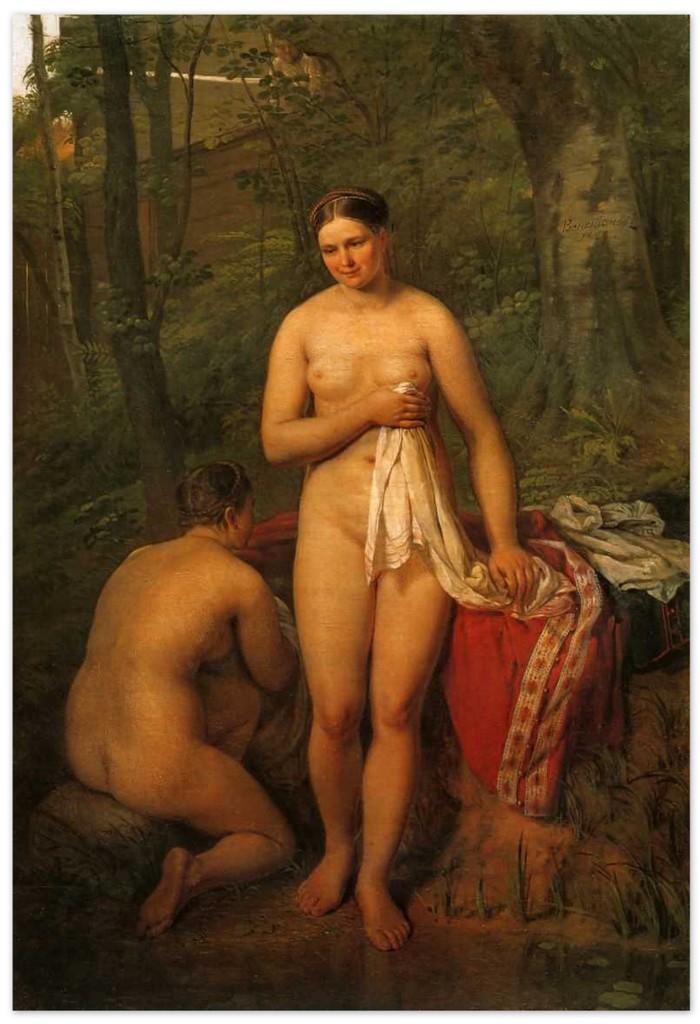 Алексей Венецианов - Купальщицы (1829, Третьяковская галерея, Москва)