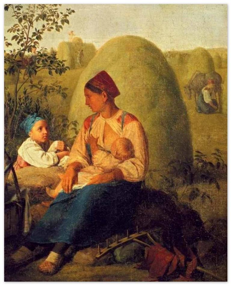 Алексей Венецианов - Сенокос (1820-е)