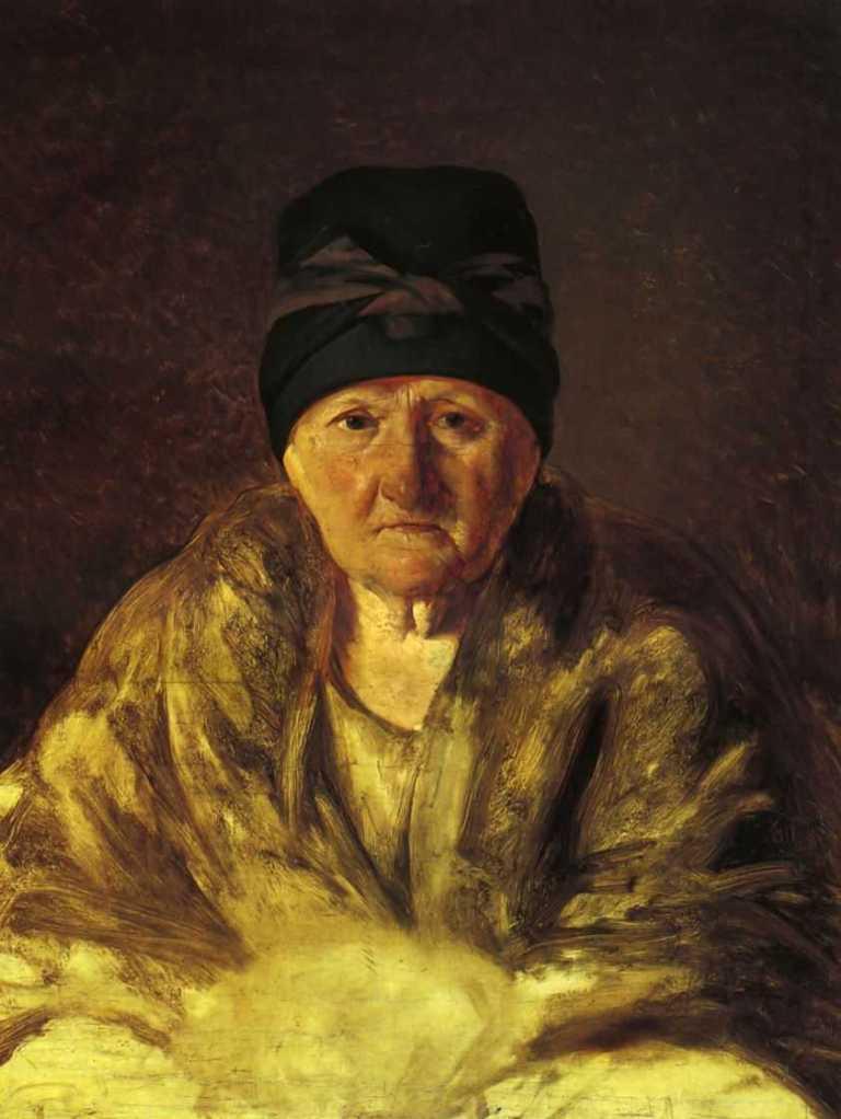 Алексей Венецианов - Старая няня в шлычке (1829, Русский музей, Санкт-Петербург)