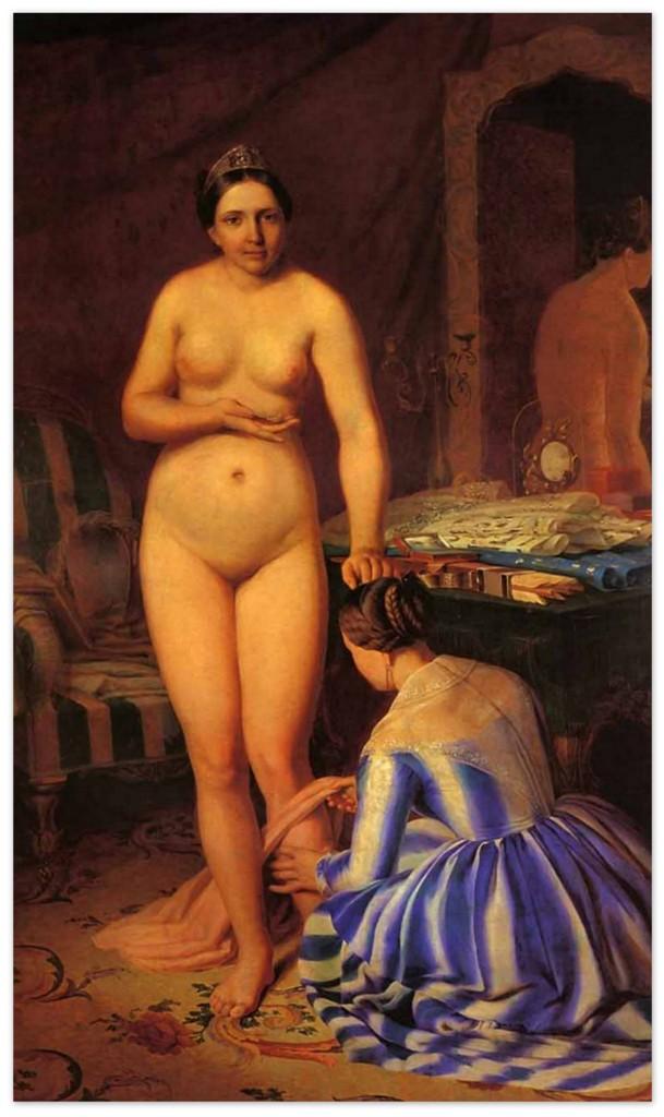 Алексей Венецианов - Туалет Дианы (1846,Третьяковская галерея, Москва)
