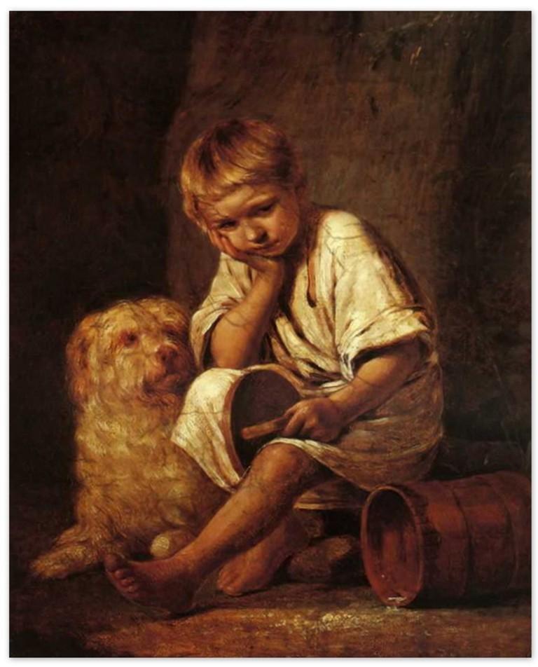 Алексей Венецианов - Вот те и батькин обед (1824, Третьяковская галерея, Москва )