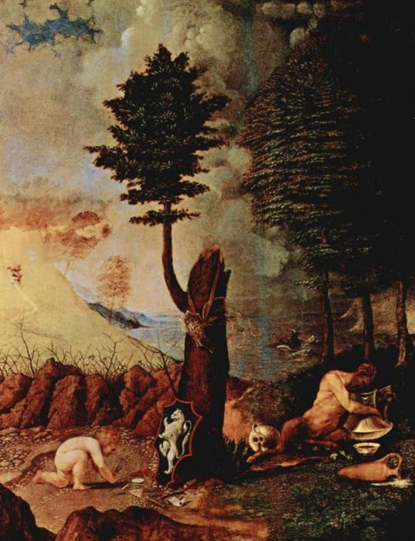 Аллегория (Аллегория благоразумия и мудрости) - Лоренцо Лотто (1505)